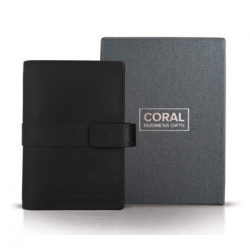 40-pocket card holder, leather black
