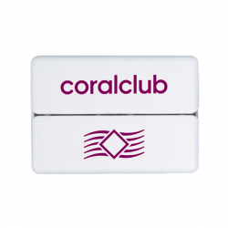 GoBox mini su violetiniu Coral Club logotipu