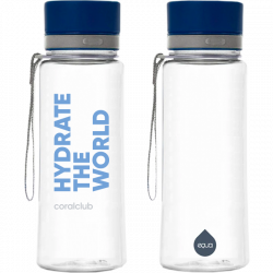 "EQUA plastikinis butelis ""Hydrate the world"" 600 ml"